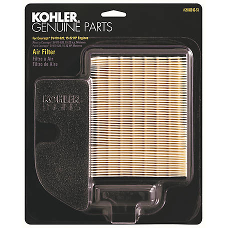Kohler Air Filter/Precleaner Kit for Courage Single SV470-620, 20 883 06-S1