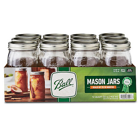 Ball Wide Mouth Quart Jar, Pack of 12