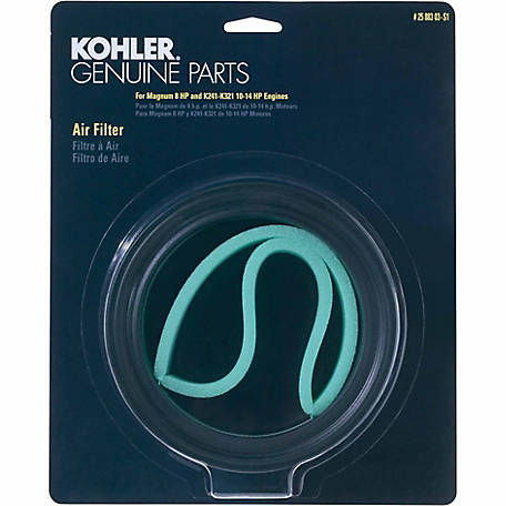 Kohler Air Filter/Precleaner Kit for K241-K321, M8, 25 883 03-S1