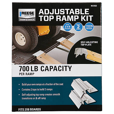 Reese Explore Adjustable Top Ramp Kit, 2 in. x 8 in., 9517533