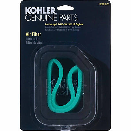Kohler Air Filter/Precleaner Kit for Courage Twin SV710-740, 32 883 03-S1