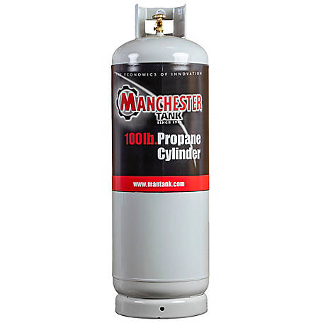 Manchester Tank & Equipment 100 lb. Steel DOT Vertical LP Cylinder Equipped with POL Valve, 4430223