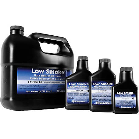 Husqvarna Mix Low Smoke 2-Stroke Oil, 2.6 oz.