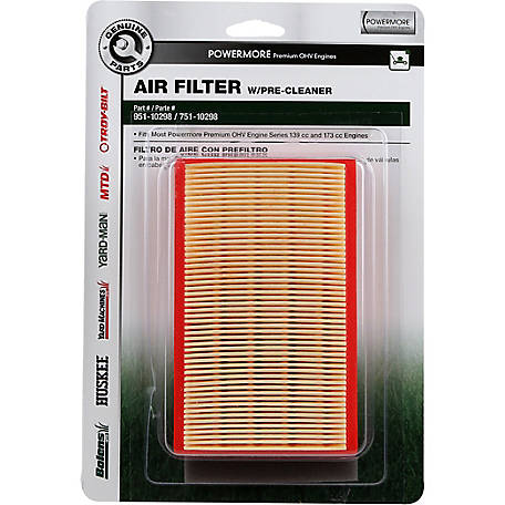 MTD Genuine Parts Air Filter with Pre-Cleaner for Walk-Behind Mowers with  4 5 -6 5 H P  Engines at Tractor Supply Co