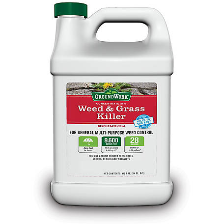 GroundWork Weed & Grass Killer Concentrate, 25% Glyphosate, 64 oz., 9541387