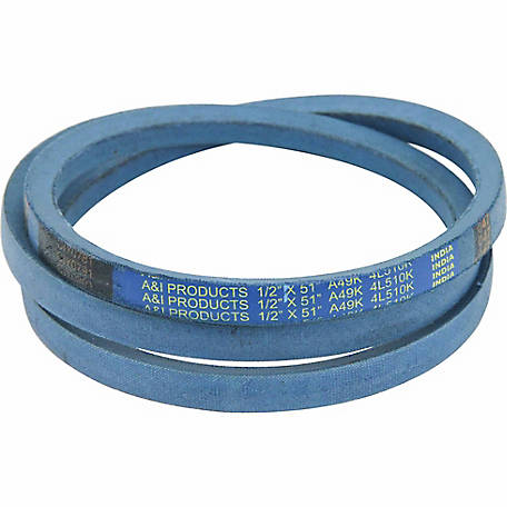 Huskee Blue Kevlar V-Belt, 1/2 in. x 51 in., A49K