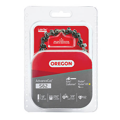Oregon 18 in. Bar Saw Chain, 0.375 Pitch, 0.050 Gauge, Use 5/32 in. File, 62 Drive Links
