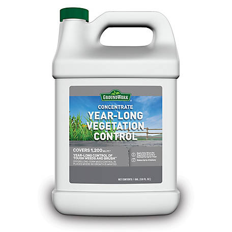 GroundWork Year-Long Vegetation Control Concentrate, 1 gal., 8191077