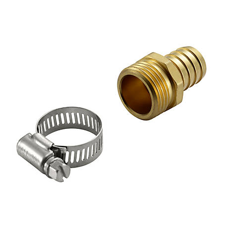 GroundWork 5/8 in. Male Hose Adapter, GB-9428