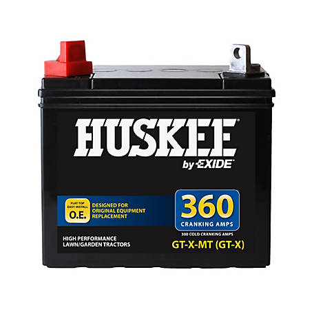 huskee lawn tractor battery gt x at tractor supply co - Garden Tractor Battery