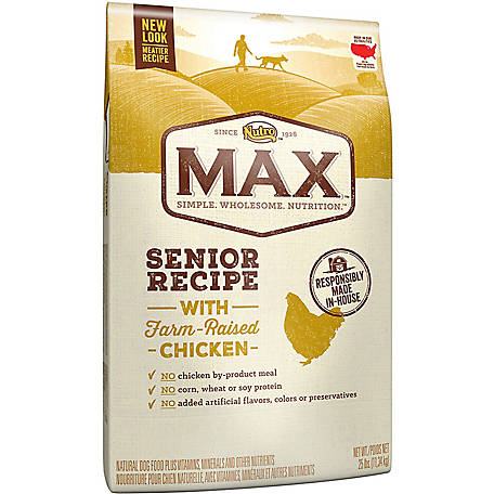Nutro Max Natural Adult Dry Dog Food, Chicken Flavor, Senior, 25 lb. Bag