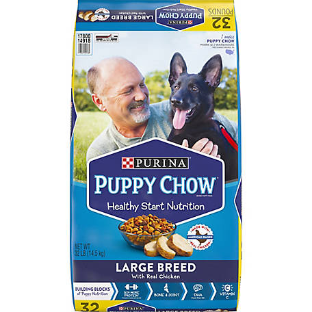 Purina Puppy Chow Large Breed Dry Puppy Food, Large Breed with Real Chicken, 32 lb. Bag