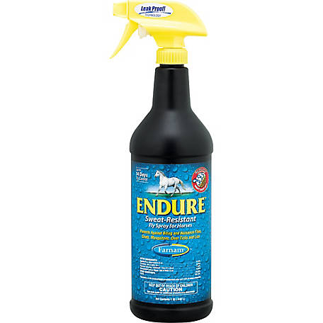 Farnam Endure Sweat-Resistant Fly Spray for Horses, 1 qt.