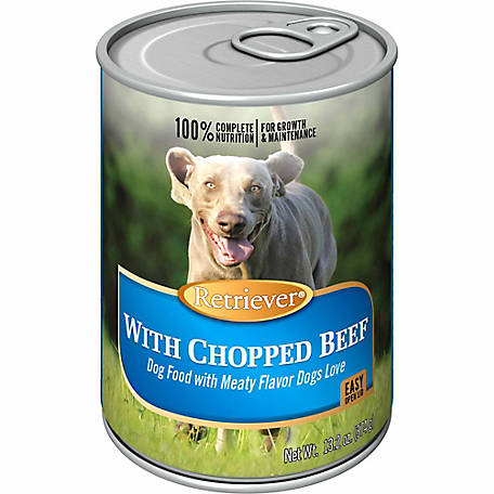 Retriever Chopped Beef Dog Food, 13.2 oz. Can
