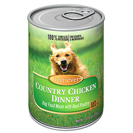 Retriever Chunky Country Chicken Dog Food, 13.2 oz. Can
