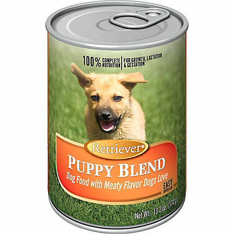 Retriever Chicken & Beef Dinner for Puppies Dog Food, 13.2 oz. Can