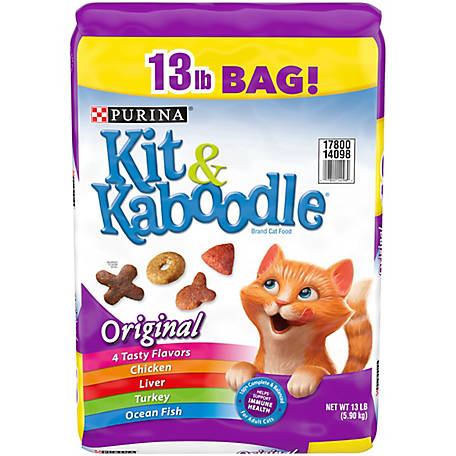 Purina Kit & Kaboodle Dry Cat Food, Original, 13 lb. Bag