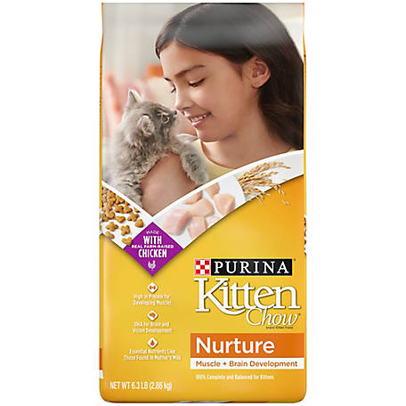 Purina Kitten Chow Dry Kitten Food, Nurture, 6.3 lb. Bag