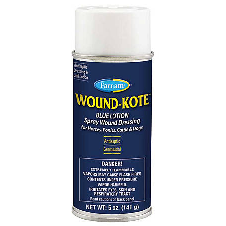 Farnam Wound-Kote Blue Lotion Spray Wound Dressing, 5 oz.