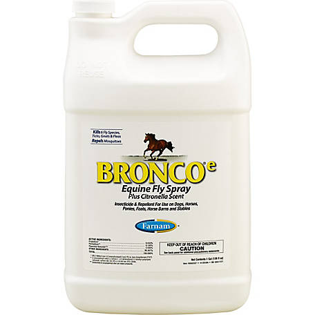 Farnam Bronco E Equine Fly Spray Plus Citronella Scent, 1 gal.