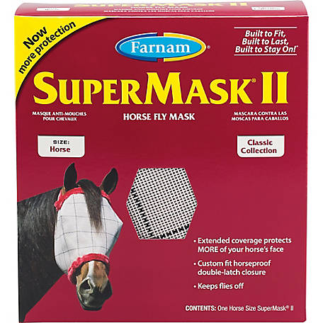 Farnam SuperMask II Horse Fly Mask, No Ears
