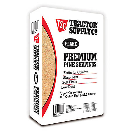 Tractor Supply Flake Premium Pine Shavings, Covers 8 cu. ft., 45/PALLET