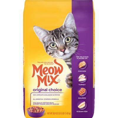 Meow Mix Original Choice Dry Cat Food; 3.15 lb. Bag