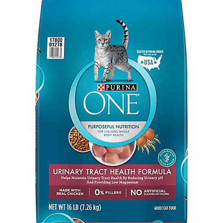 Purina ONE Urinary Tract Health Dry Cat Food, Urinary Tract Health Formula, 16 lb. Bag