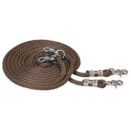 Weaver Leather Poly Rope Draw Reins Brown At Tractor Supply Co