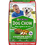 Purina Dog Chow Complete With Real Chicken Adult Dry Dog Food, 52 lb. Bag