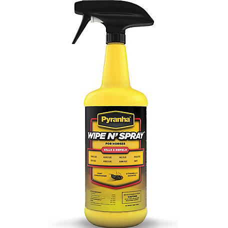 Pyranha Wipe N' Spray for Horses, 32 oz.