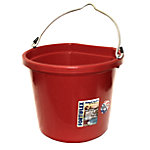 Fortiflex FB-120 Flat Back Bucket, 20 qt. Capacity