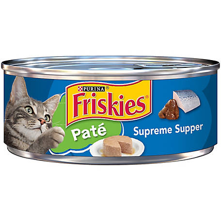 Purina Friskies Pate Wet Cat Food, Pate Supreme Supper, 5.5 oz. Can