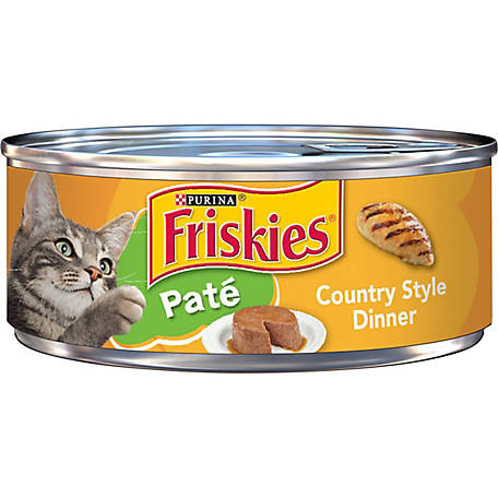 Purina Friskies Pate Wet Cat Food, Country Style Dinner, 5.5 oz. Can