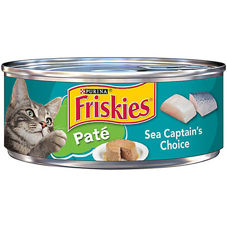 Purina Friskies Pate Wet Cat Food, Sea Captain's Choice, 5.5 oz. Can