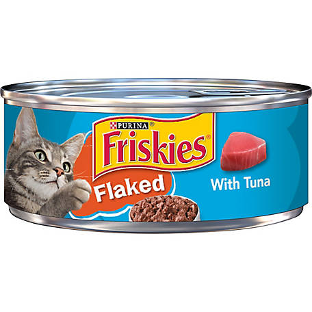 Purina Friskies Wet Cat Food Flaked with Tuna, 5.5 oz. Can