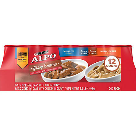 ALPO Gravy Cravers Variety Pack Dog Food, Pack of 12