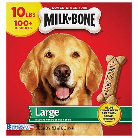 Milk Bone Original Dog Treats for Large Dogs, 10 lb.