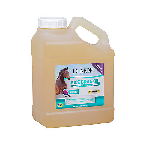 DuMOR Rice Bran Oil: High Calorie Supplement for Horses, 1 gal., 603A186