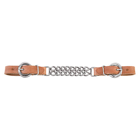 Weaver Leather Harness Leather 4-1/2 in. Double Flat Link Chain Curb Strap