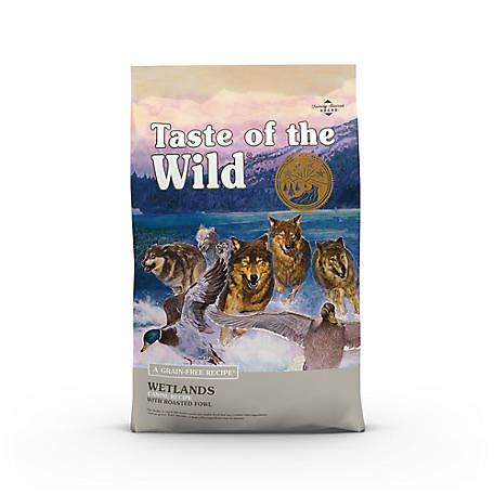 Taste of the Wild Wetlands Canine Formula with Roasted Fowl Dog food, 14 lb. Bag