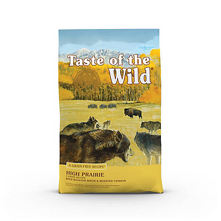 Taste of the Wild High Prairie Canine Formula with Roasted Bison & Roasted Venison Dry Dog Food, 5 lb. Bag