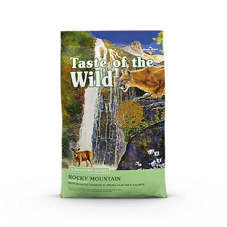 Taste of the Wild Rocky Mountain Feline Formula with Roasted Venison & Smoked Salmon Dry Cat Food, 5 lb.