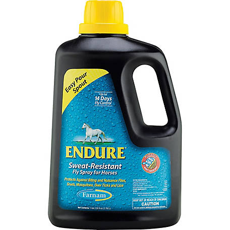 Farnam Endure Sweat-Resistant Fly Spray for Horses , 1 gal.