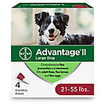 Advantage II for Dogs, 21-55 lb., 4 Month Supply