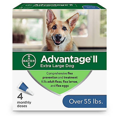 Advantage II for Dogs, 55+ lb., 4 Month Supply
