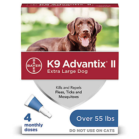 K9 Advantix II, Extra Large Dog, Blue, Pack of 4