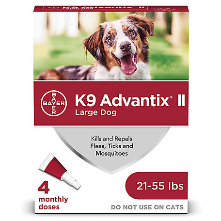 K9 Advantix II, Large Dog, Red, Pack of 4