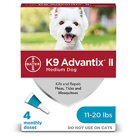 K9 Advantix II, Medium Dog, Teal, Pack of 4