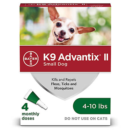 K9 Advantix II, Small Dog, Green, Pack of 4